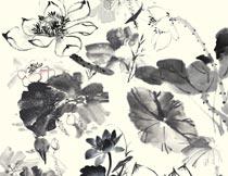 中国风水墨文化设计元素PSD素材