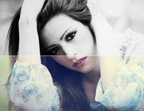人像照片添加高质量黑白效果PS动作