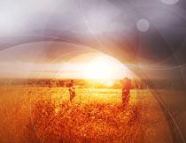 照片添加梦幻光晕和几何光线PS动作