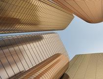 华丽的金色高层建筑大楼摄影图片
