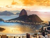唯美的里约热内卢海湾风景摄影图片