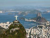 美丽的里约热内卢鸟瞰风景摄影图片