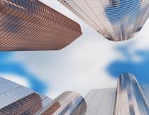 玻璃幕墙高层建筑大楼摄影图片