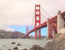 美丽的金门大桥风景摄影图片
