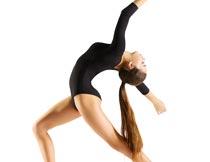 弯腰做艺术体操的美女摄影图片