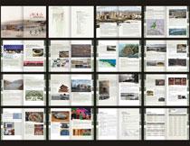 湖滨旅游画册设计模板矢量素材