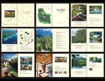 七仙瑶池国内旅游画册模板矢量素材