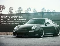 汽车照片后期质感和漏光调色PS动作