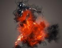 大师级人像添加火焰和烟雾效果PS动作