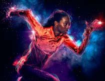超酷的人像添加梦幻光线效果PS动作