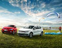 大众POLO汽车户外活动海报PSD素材