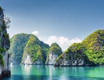 山清水秀的越南自然景观摄影图片