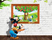 米奇唐老鸭与装饰画等影楼背景图片