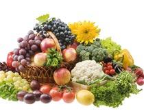 一堆新鲜的水果蔬菜特写摄影图片