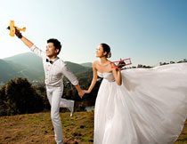 韩国海景系列婚纱模板A
