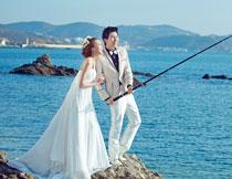 韩国海景系列婚纱模板B