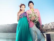 韩国海景系列婚纱模板C