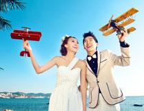 韩国海景系列婚纱模板E
