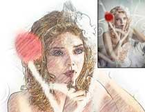 超酷的素描铅笔画艺术效果PS动作