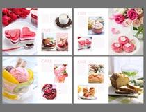 时尚蛋糕店画册设计模板PSD素材