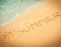 美丽的夏季沙滩自然风景摄影图片
