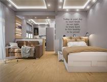 创意简约风卧室装修设计摄影图片
