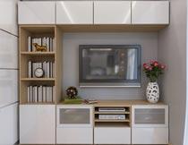 简约客厅电视柜装修设计摄影图片