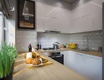 简约现代风格厨房装修设计摄影图片