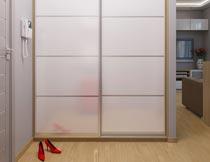 现代简约卧室衣柜效果图摄影图片