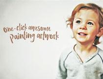 人像照片转油画手绘效果PS动作