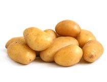 一堆新鲜的土豆食材原料摄影图片