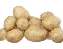 一堆新鲜成熟的马铃薯特写摄影图片