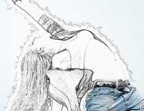 创意的照片素描铅笔画效果PS动作