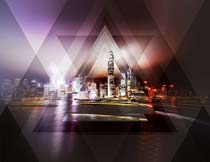 照片添加创意的几何形状背景PS动作