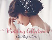 婚纱照片转黑白和复古效果PS动作