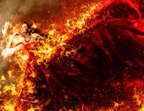 人像被火焰燃烧特效PS动作
