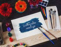水彩绘画场景适用贴图模板源文件