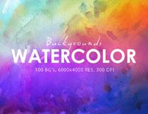 100款炫丽水彩效果纹理背景高清图片