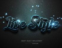 时尚现代风格的3D字体设计PSD模板V8