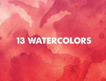 13张水彩风格纹理背景高清图片