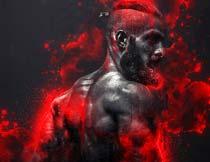 创意的人像添加血迹喷溅效果PS动作