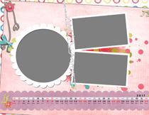 {漂亮女孩}2017儿童日历模板