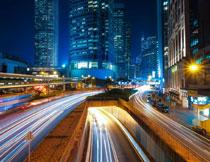 香港夜晚城市风光摄影高清图片