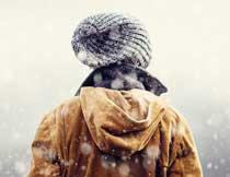 冬季唯美大气的下雪动画效果PS动作