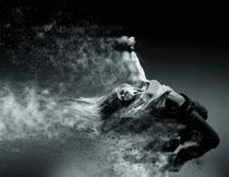 风沙侵蚀创意视觉美女高清图片