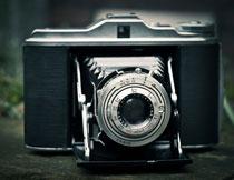老式复古照相机近景特写高清图片
