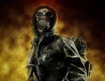 人像添加超酷的烟雾和沙尘背景PS动作
