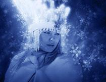 创意的圣诞节雪花装饰PS动作