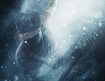 大师级人像添加蓝色雪景效果PS动作