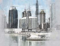 建筑物转手绘素描艺术效果PS动作